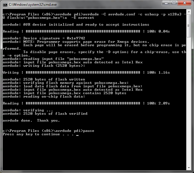 Elektronika a programovanie - Xmega programmer using the